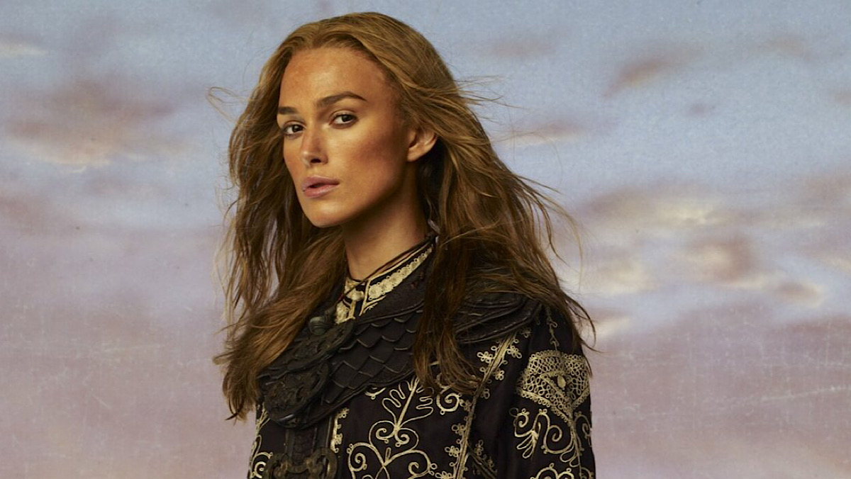 A promo shot of Elizabeth Swann from Pirates of the Caribbean: At World's End.