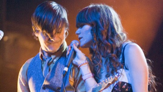 Blake Sennet and Jenny Lewis of Rilo Kiley.