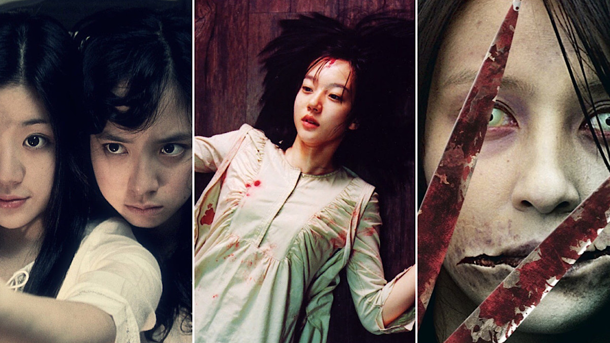 Asian Horror Movies header featuring three films.