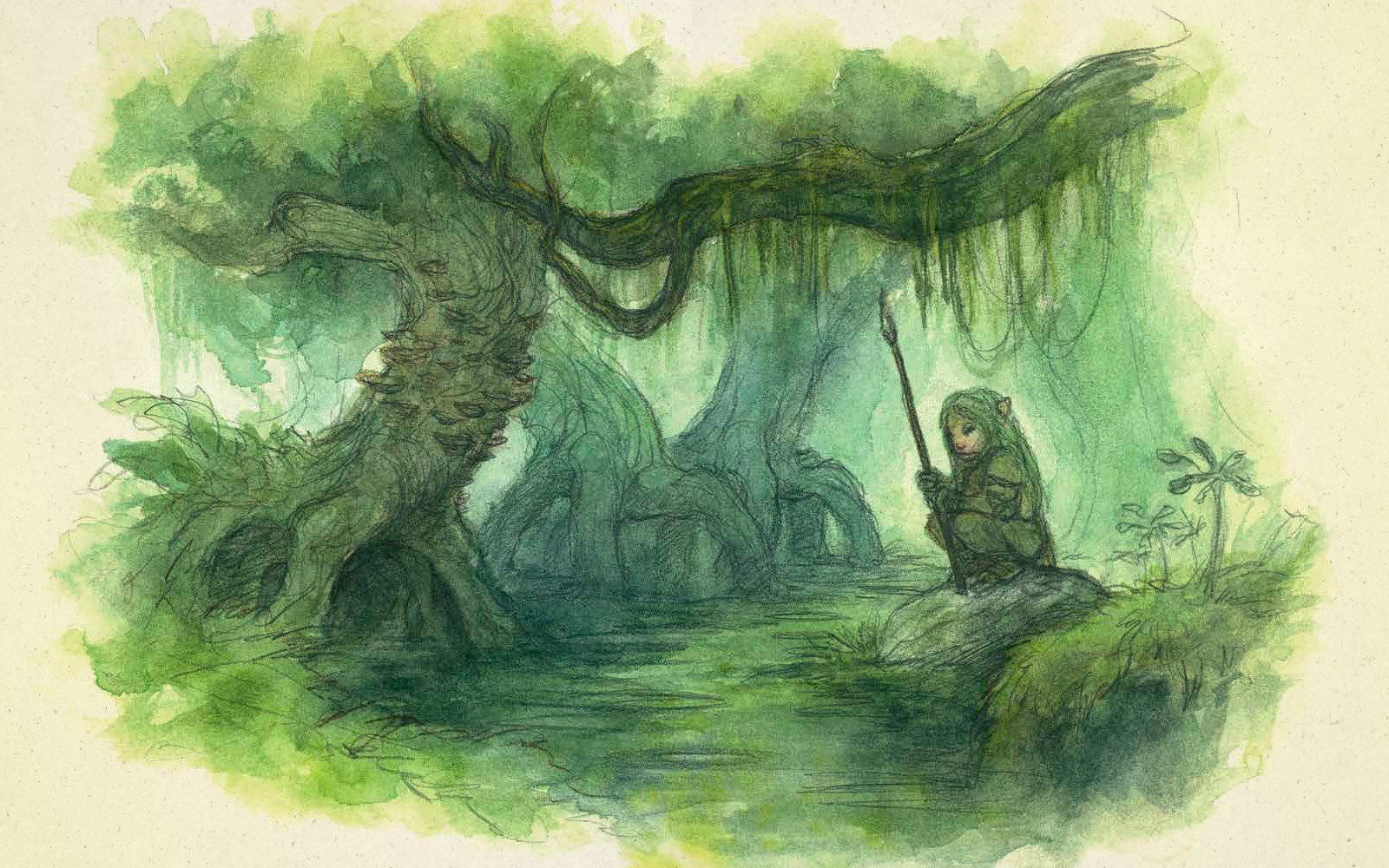 Gelfling illustration from Dark Crystal Bestiary