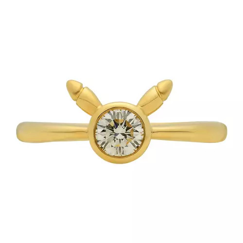 Pikachu engagement ring with ears