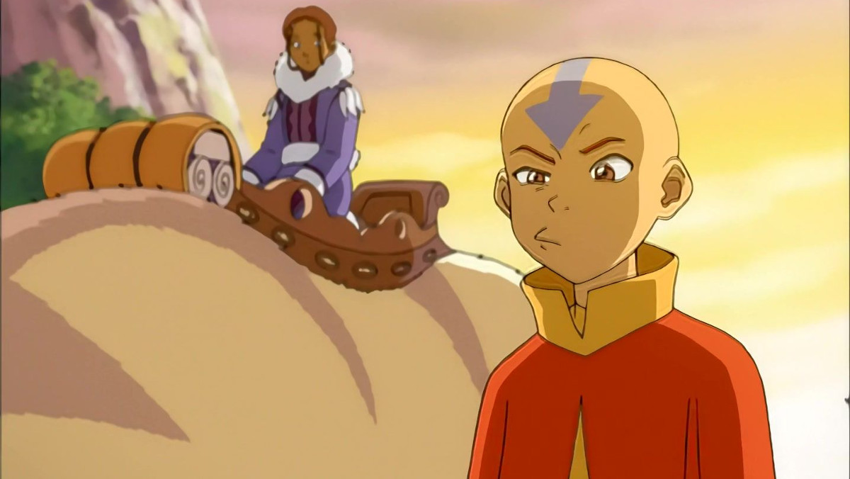 Aang looks annoyed