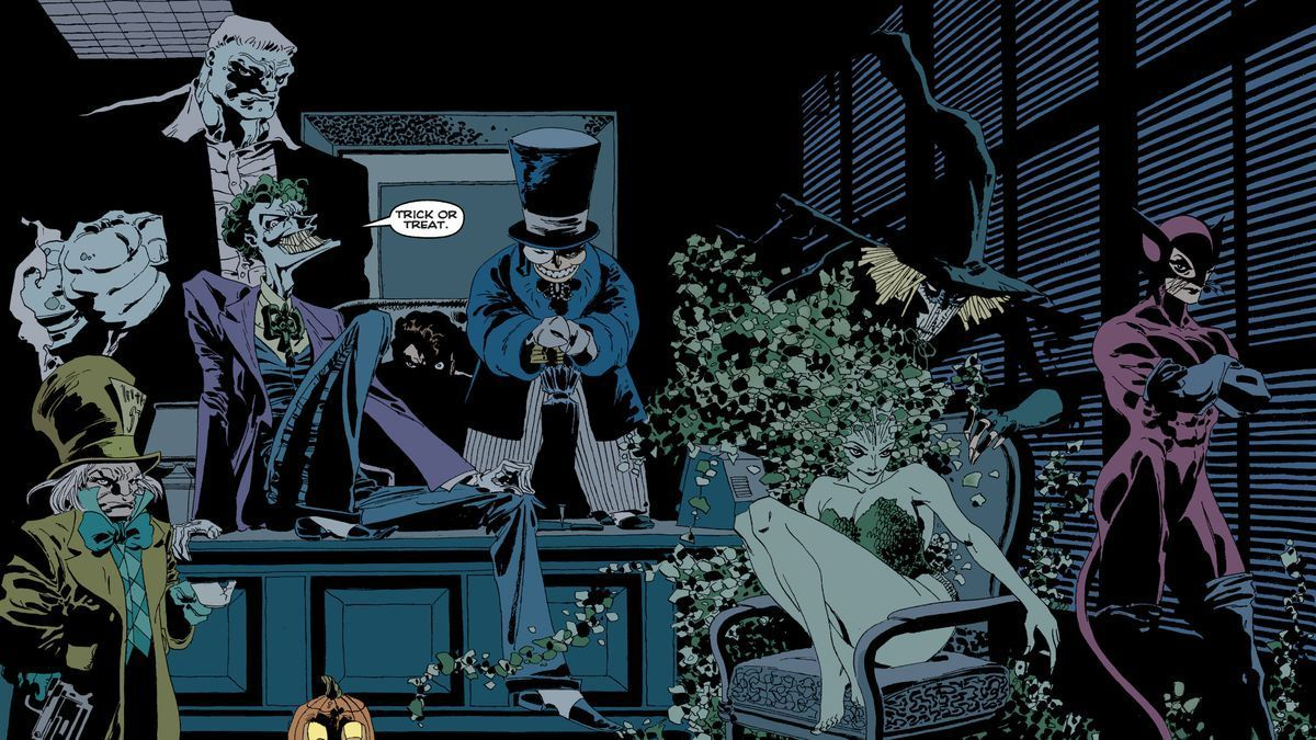 Villains gather in Batman: The Long Halloween