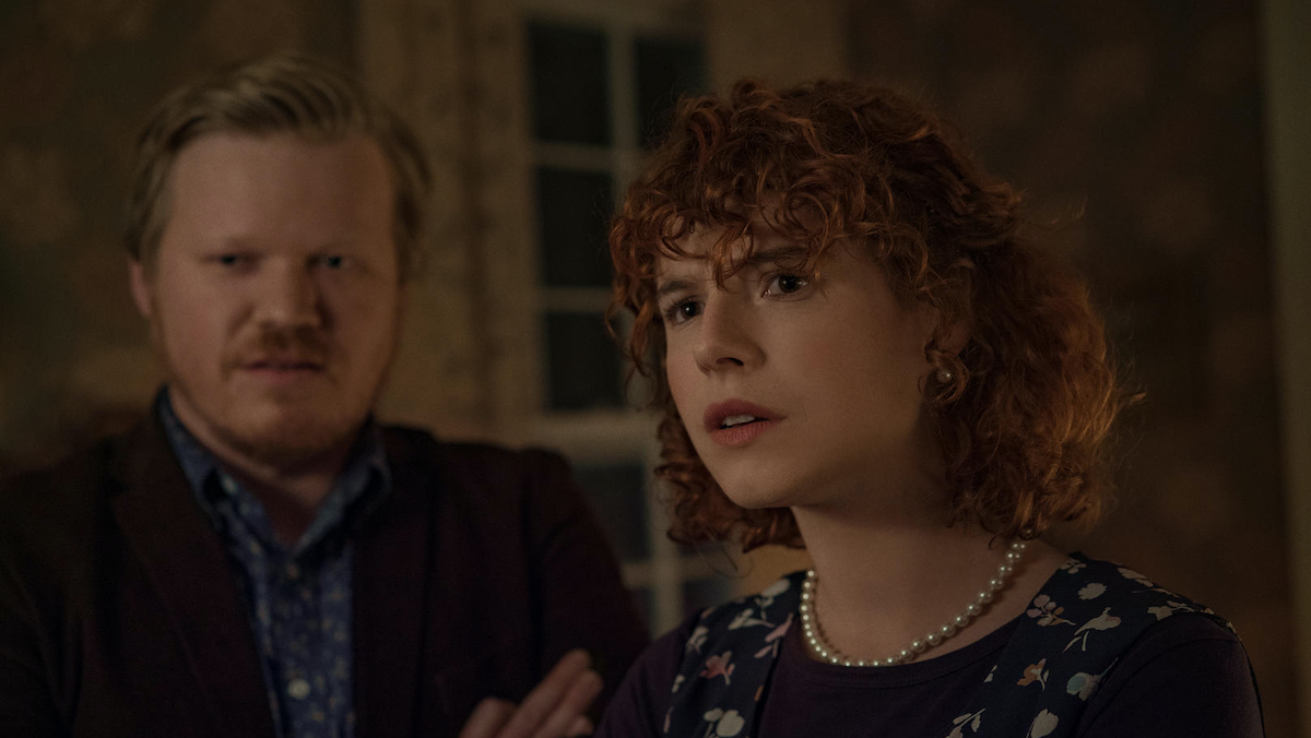 Jessie Buckley and Jesse Plemons in I'm Thinking of Ending Things.