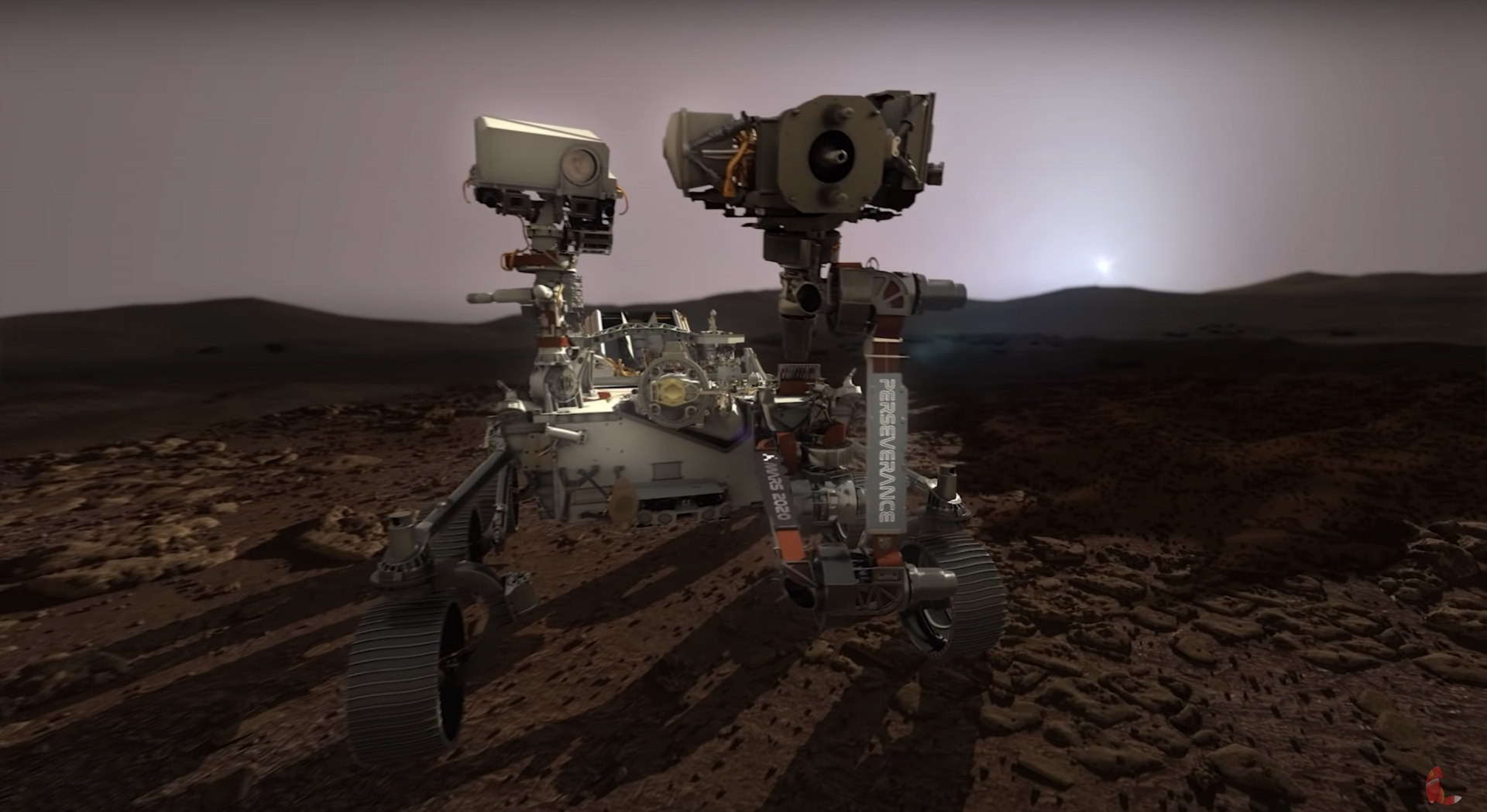 Here's a visualization of how the Perseverance Mars rover is going to land on Mars.