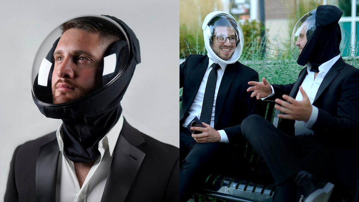 New Full-Head Bubble Helmet is a Strange Way to Stay Safe_2