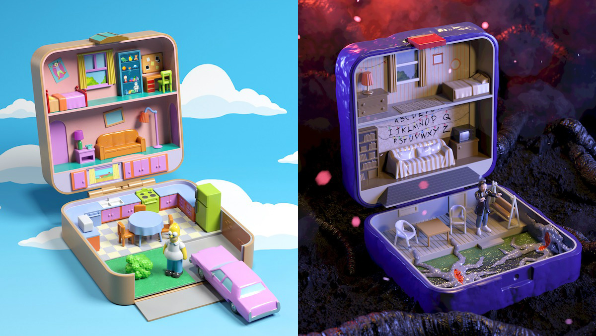 Iconic Pop Culture Homes Remade as Polly Pockets - Nerdist