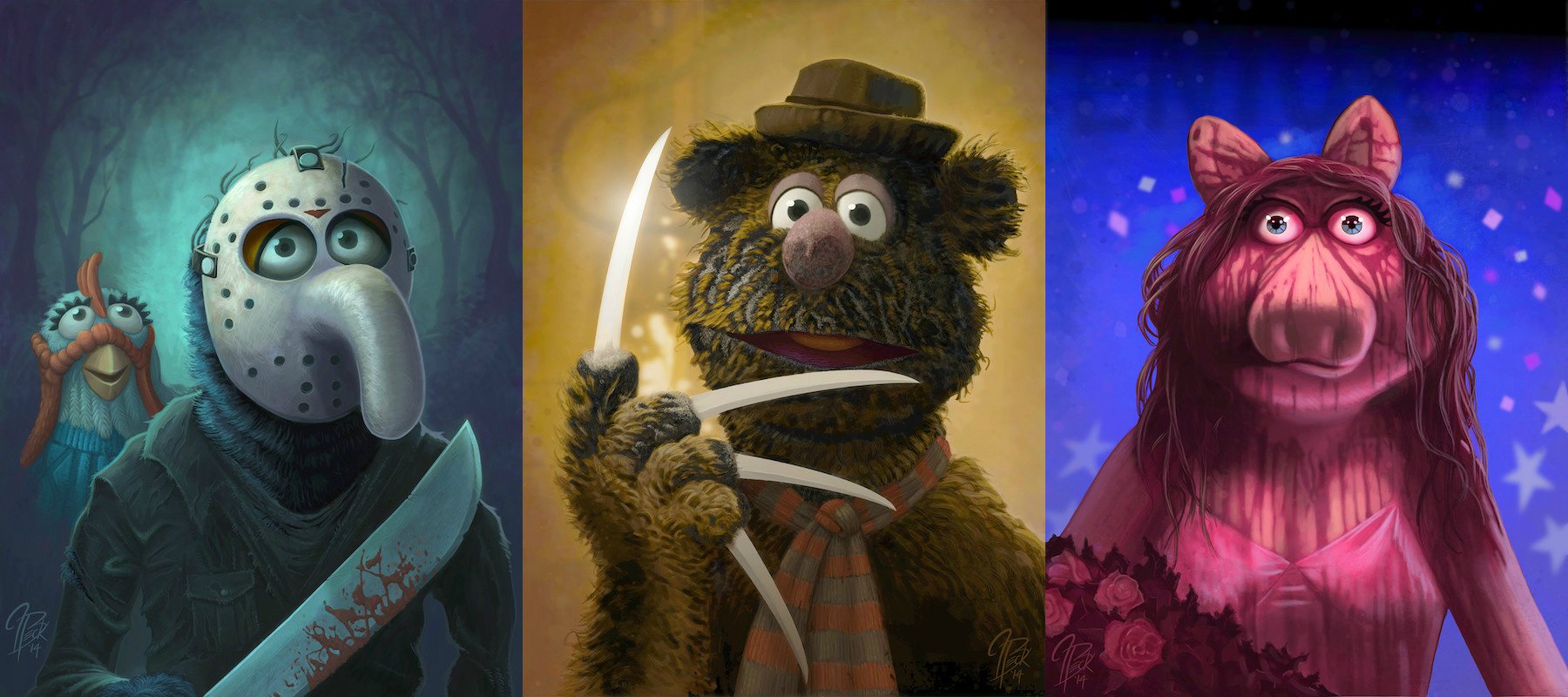 The Muppets as horror movie characters