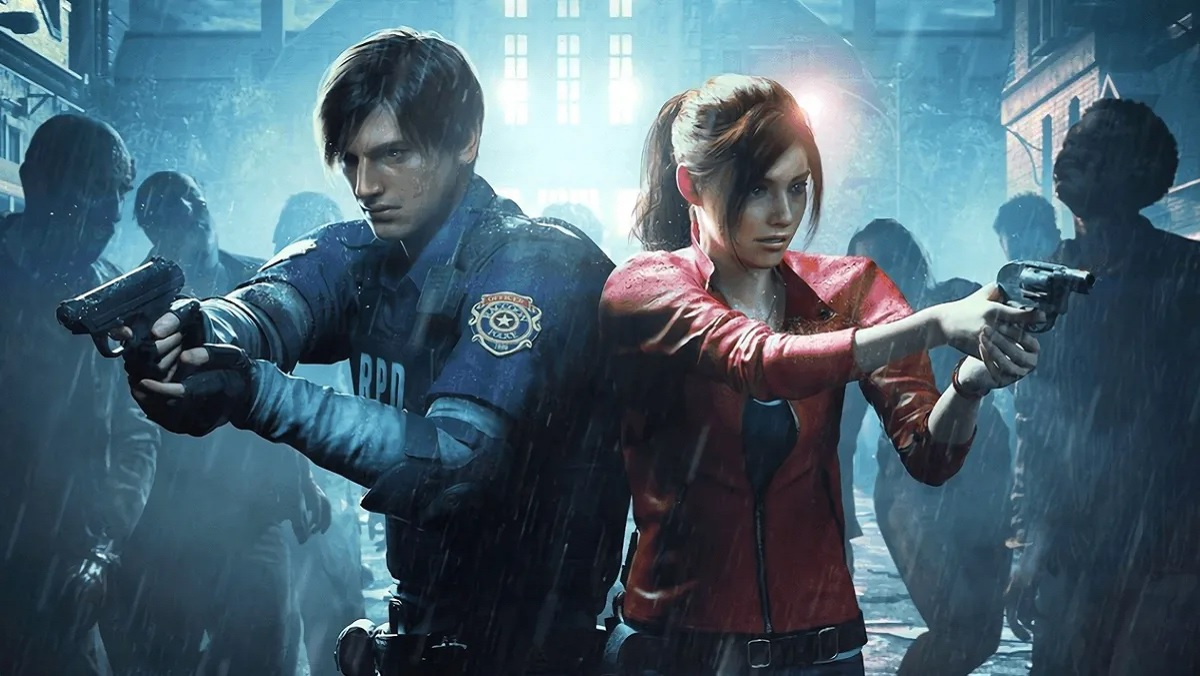 Leon Kennedy and Claire Redfield in Resident Evil 2 remake.