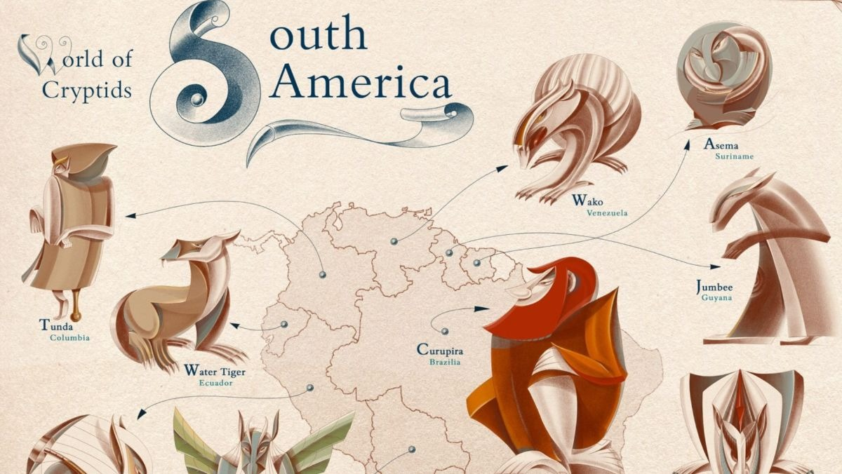 Map Shares Every Country's Most Famous Mythical Creature