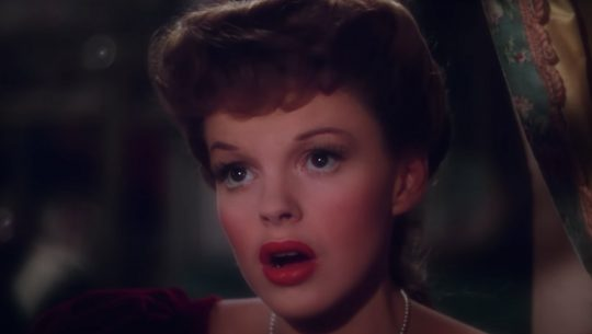"Judy Garland sings ""Have Yourself a Merry Little Christmas"" in Meet Me in St. Louis."