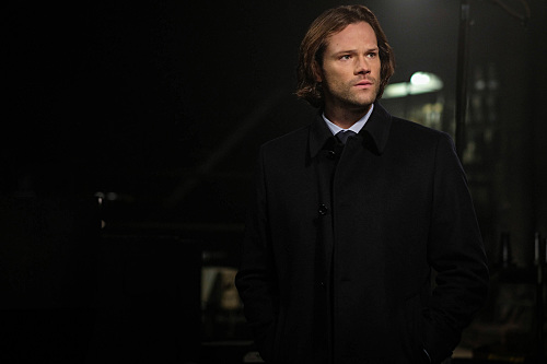 Sam Winchester dressed in black in Supernatural