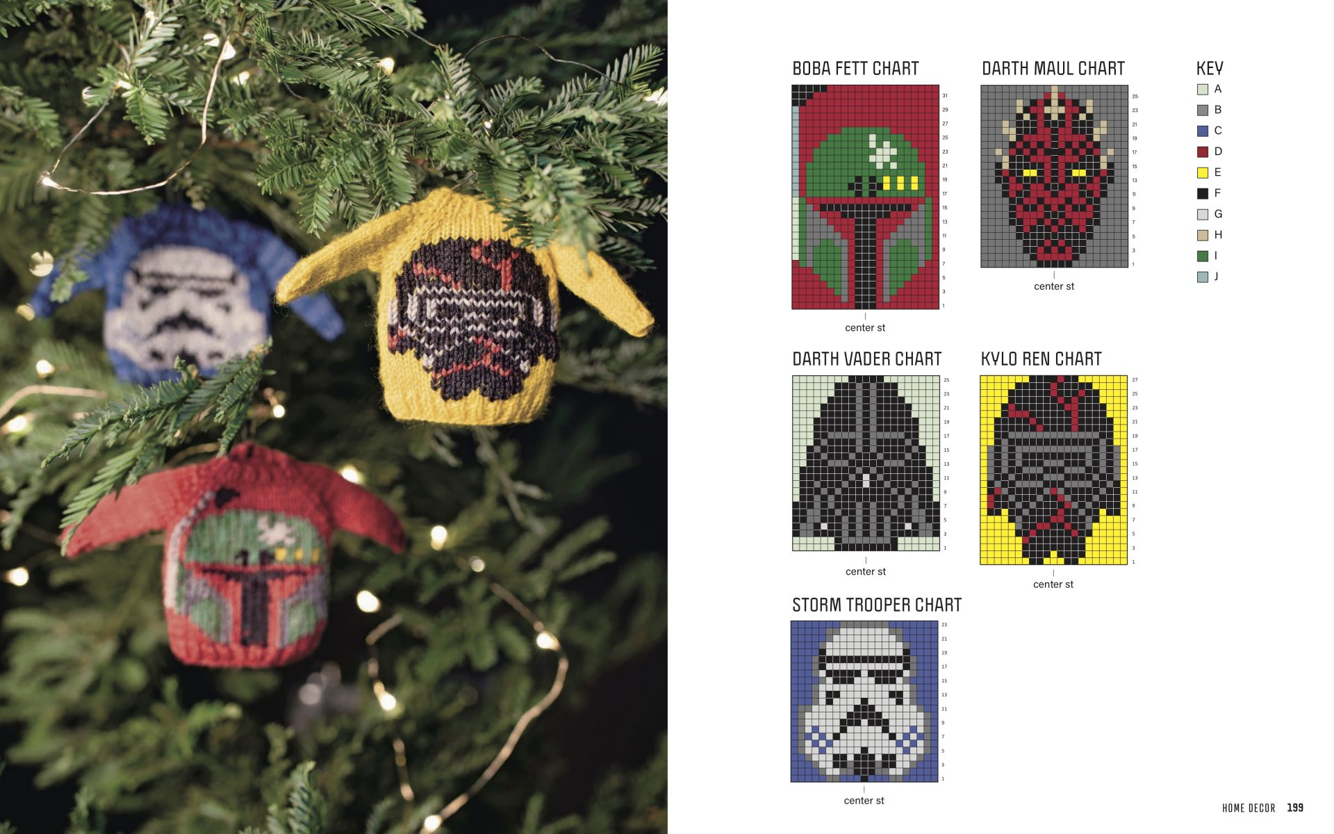 Star Wars sweater ornament knitting pattern and instructions