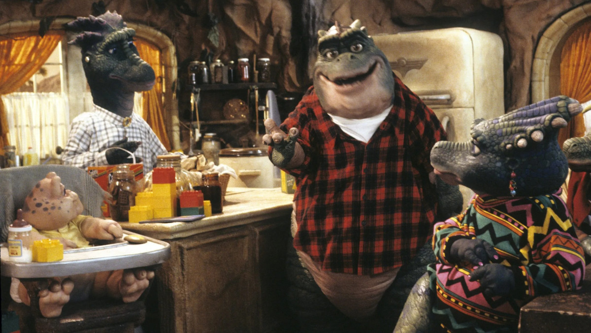 The Sinclair family in Dinosaurs