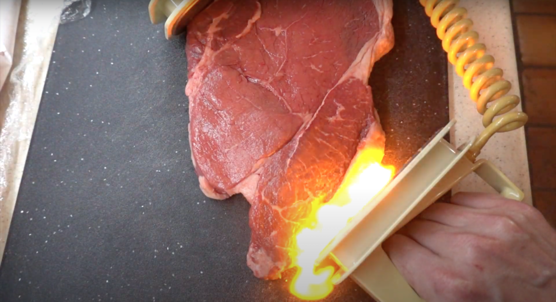 YouTuber performs experiments to see if defibrillating meats makes them taste better.