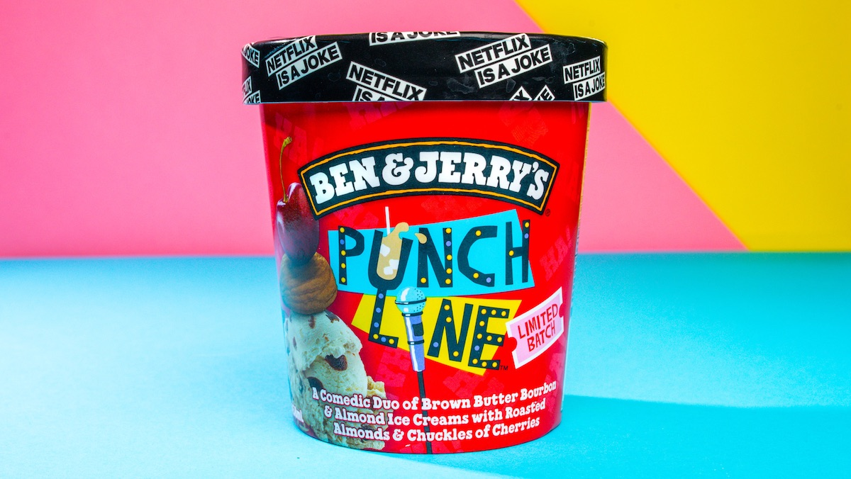 Ben & Jerry's Punch Line Ice Cream Comes With a Joke Hotline_1