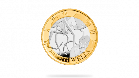 The Royal Mint's HG Wells Commemorative Coin