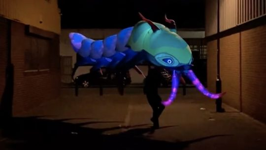 Inflatable isopod puppet
