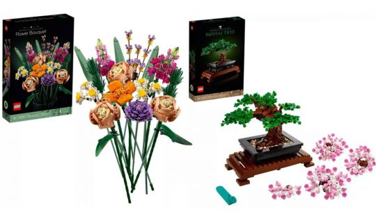 LEGO botanical builds