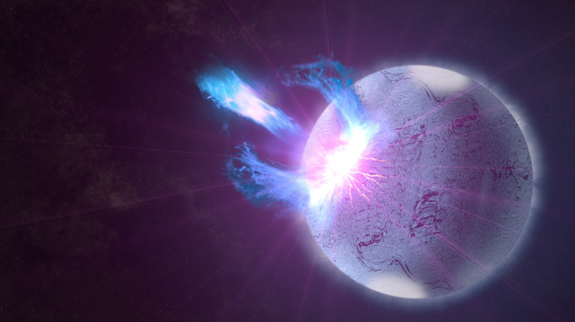 Astronomers have detected a flare possibly caused by a starquake on a magnetar.