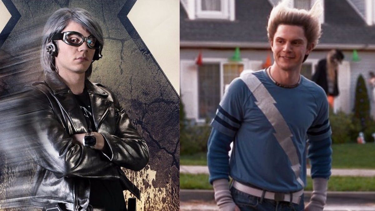 Evan Peters originated the live-action Quicksilver in the Fox X-Men films, only to play a new version of him in WandaVision.