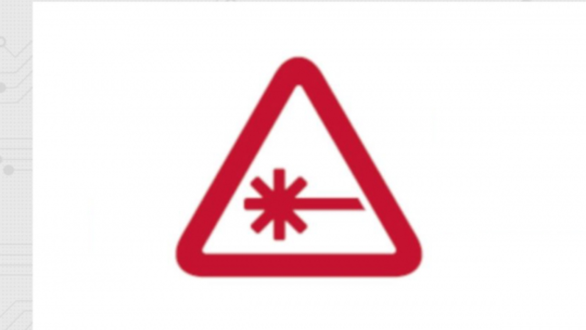 a Nerdist logo photo of a red triangle with a red asterisk inside on a white background
