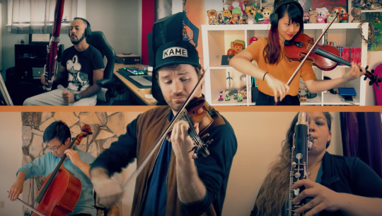 Musicians perform a Paper Mario-inspired concert.