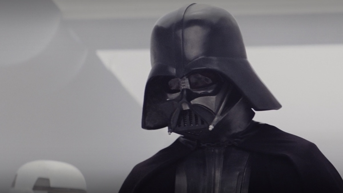 Darth Vader's first appearance in Star Wars, from A New Hope