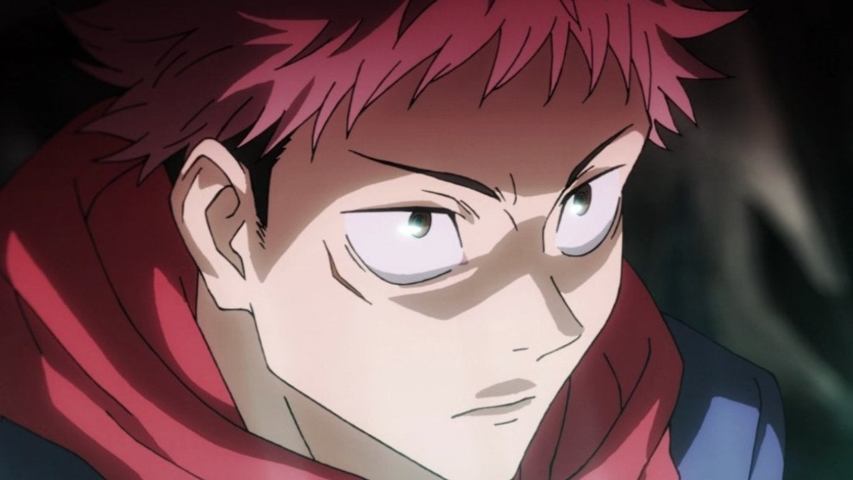 a photo of a male anime character jujutsu kaisen itadori