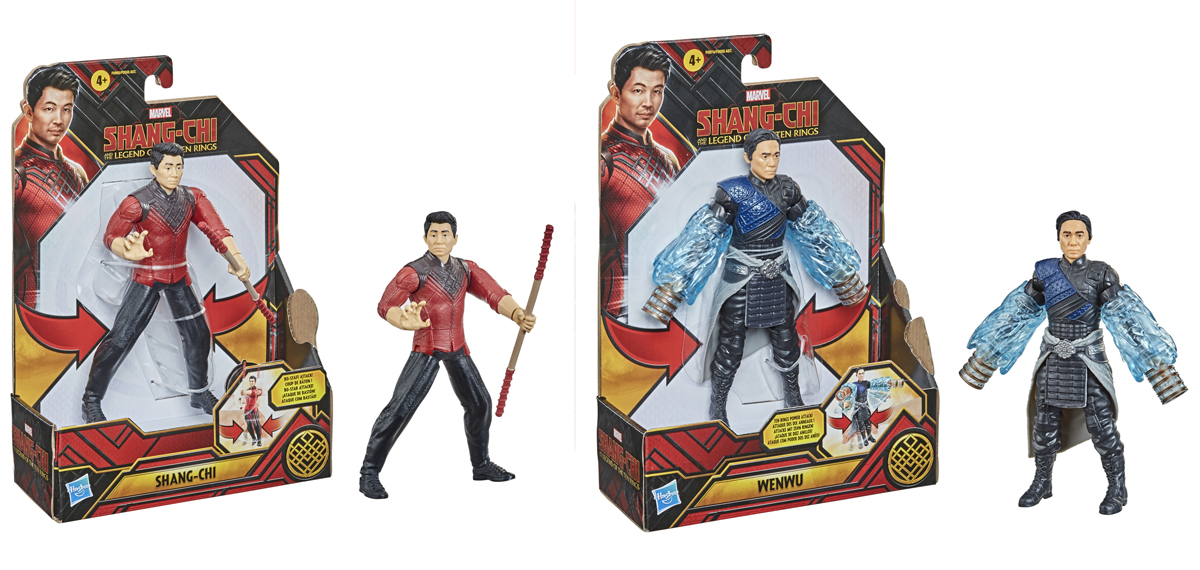 Shang-Chi and Wenwu also come in versions made specifically for fighting play.