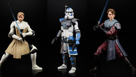The heroes of the Clone Wars stand tall in new Star Wars Black Series action figures from Hasbro.