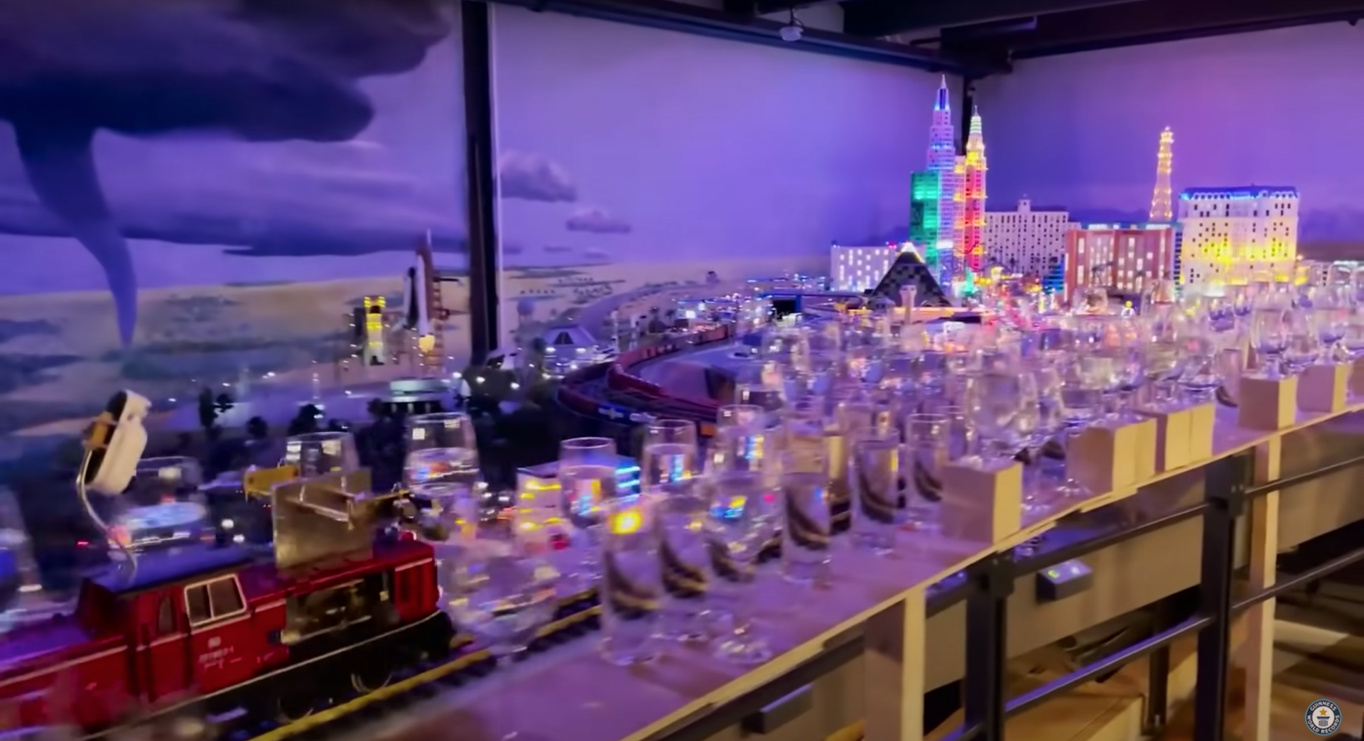 The Miniatur Wunderland museum in Germany has set a new world record for longest melody played by a model train, and the whole 8-mile-long song is amazing.