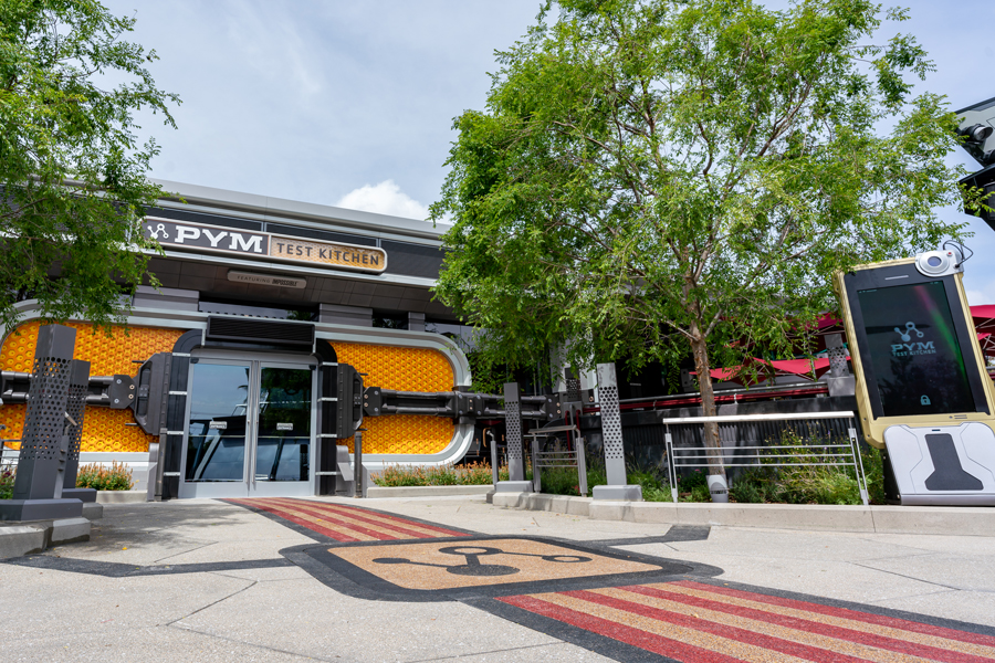An image of the exterior of the Pym Test Kitchen