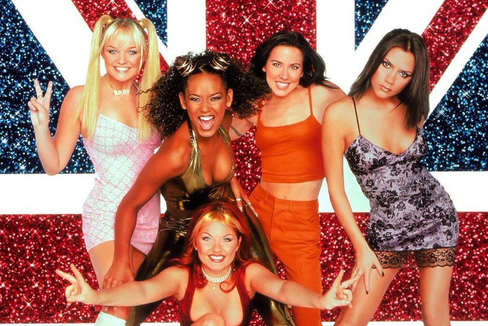 The Spice Girls, the epitome of 90s teen pop personified.