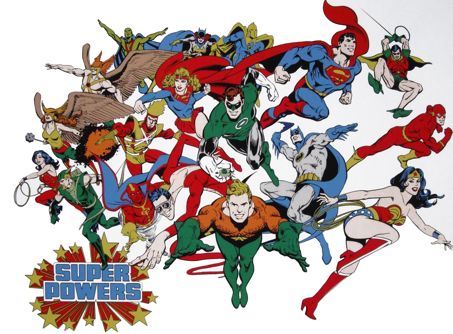 A Super Powers poster from the mid '80s, art by Jose Luis Garcia Lopez.