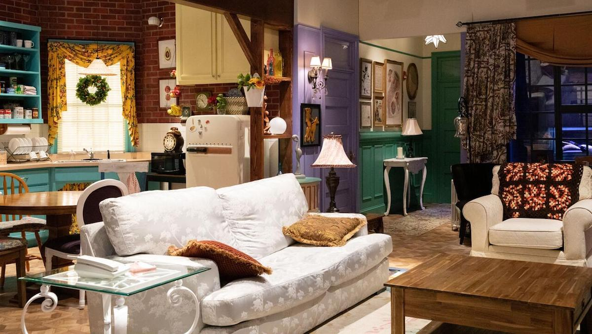 A recreation of Monica and Rachel's apartment from Friends.