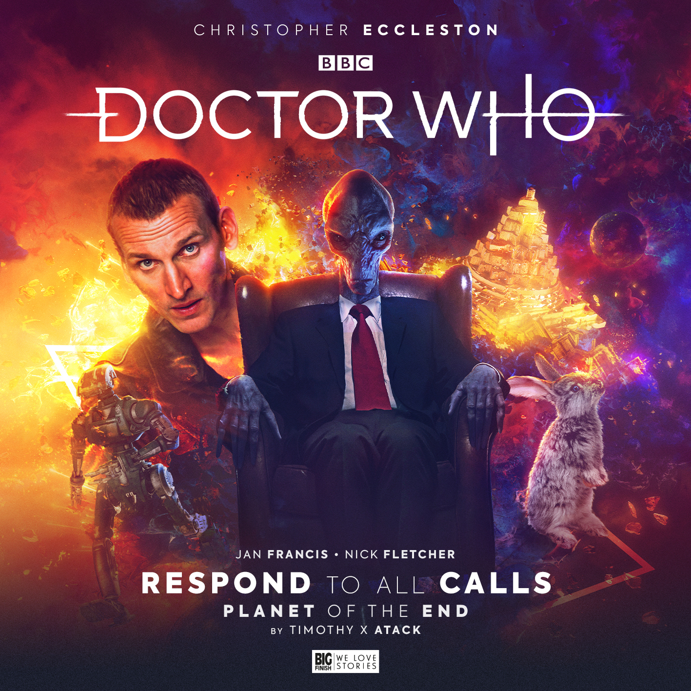 Cover art for Doctor Who Big Finish Respond to all Calls story featuring Christopher Eccleston