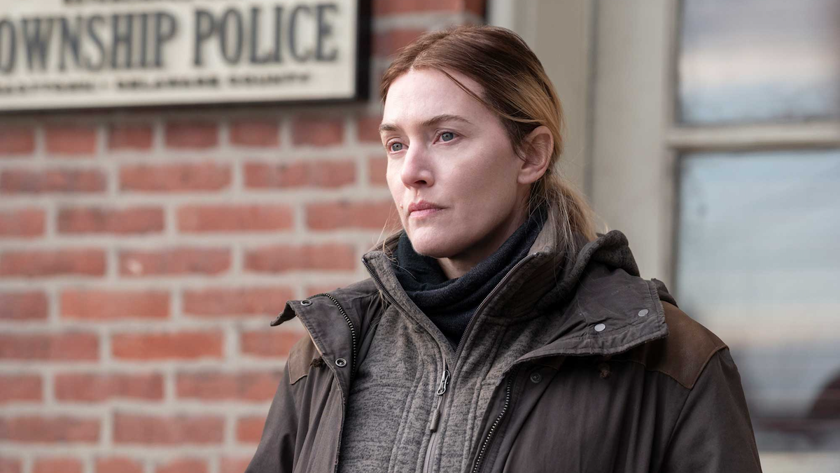 Kate Winslet looks sad as the titular Mare of Easttown.