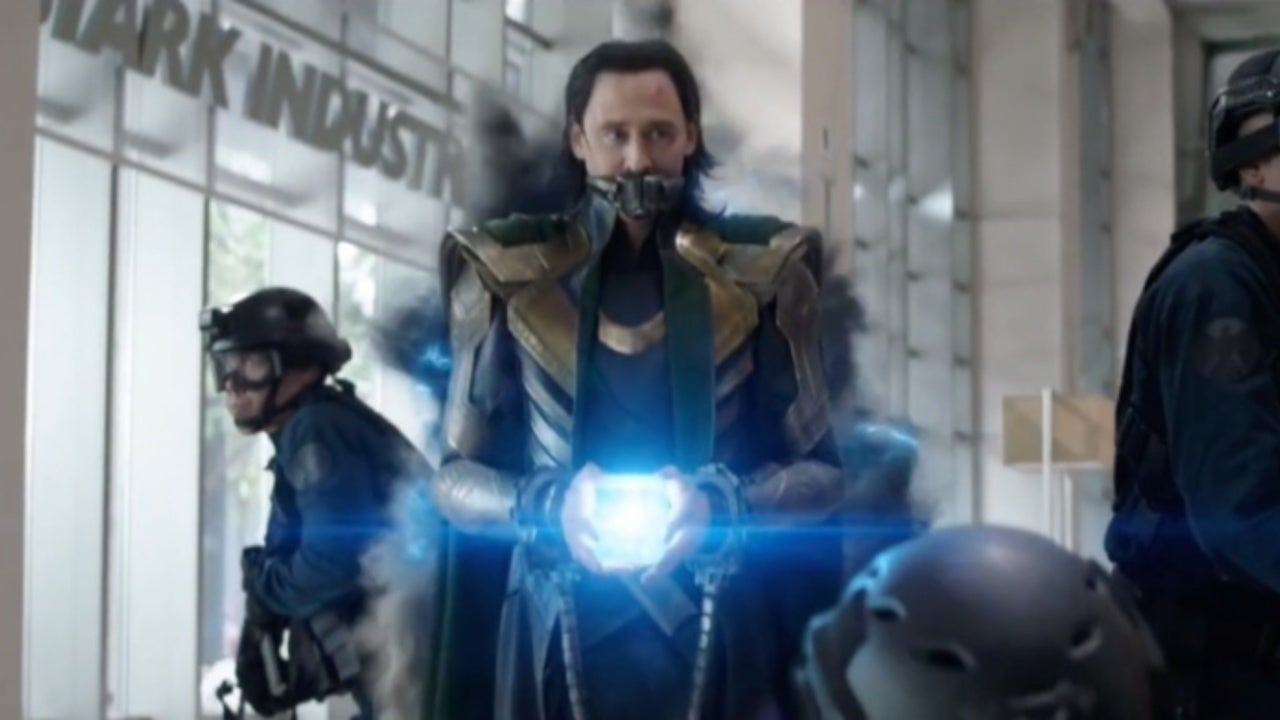 Loki holds the tesseract and disappears into a time portal during Avengers: Endgame