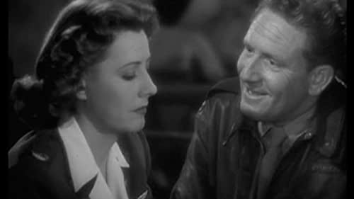 A Guy Named Joe film still of man and woman talking in black and white