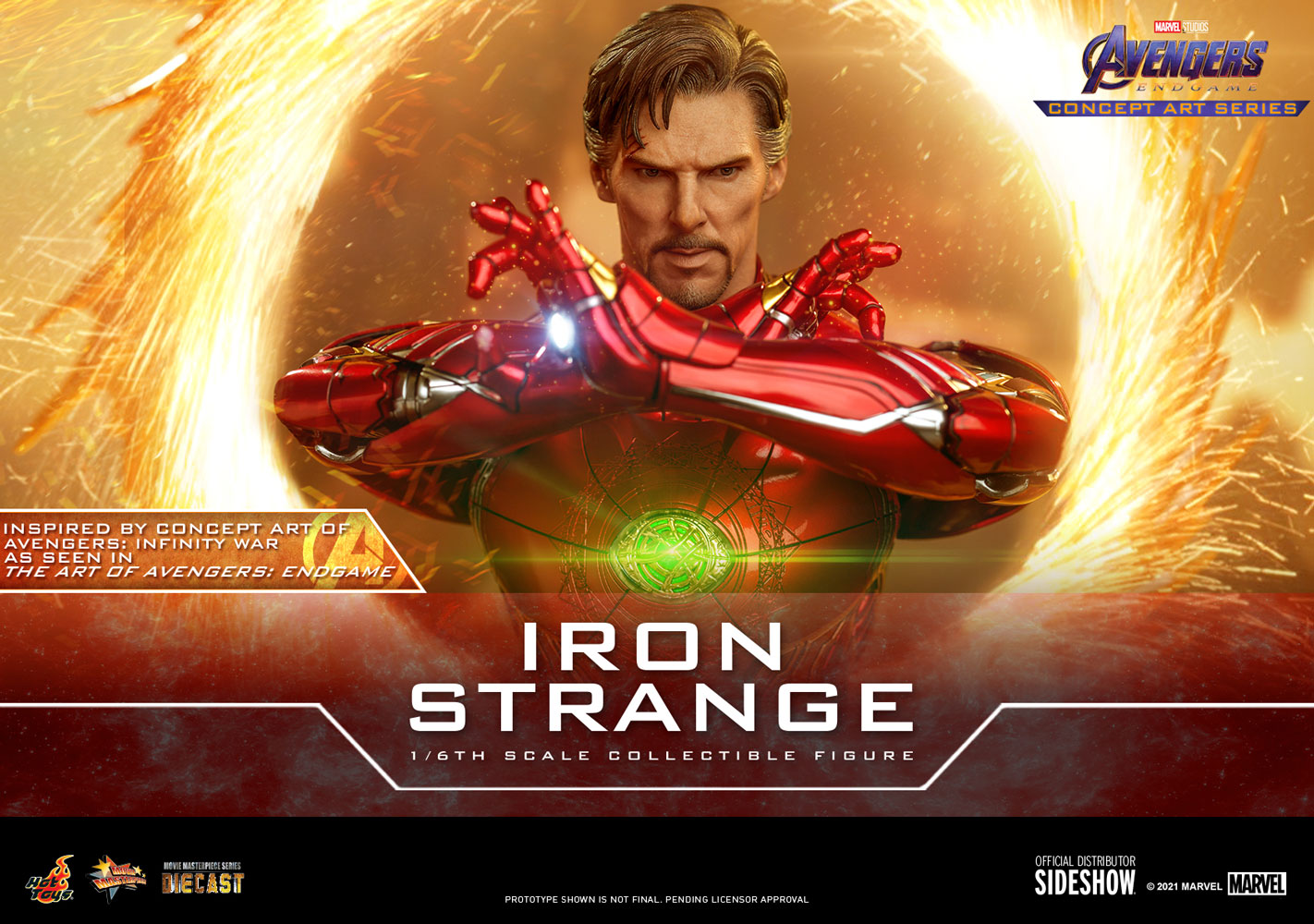 The Iron Strange 1:6 figure, emerging from a mystical portal.