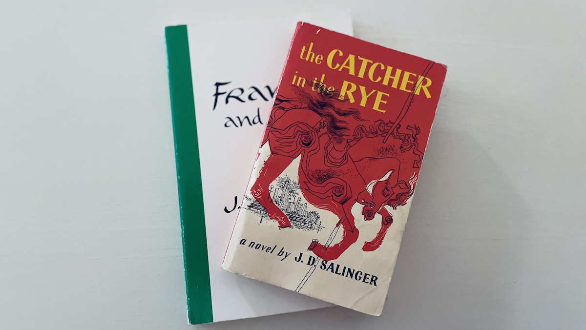 Copies of Franny and Zooey and Catcher in the Rye