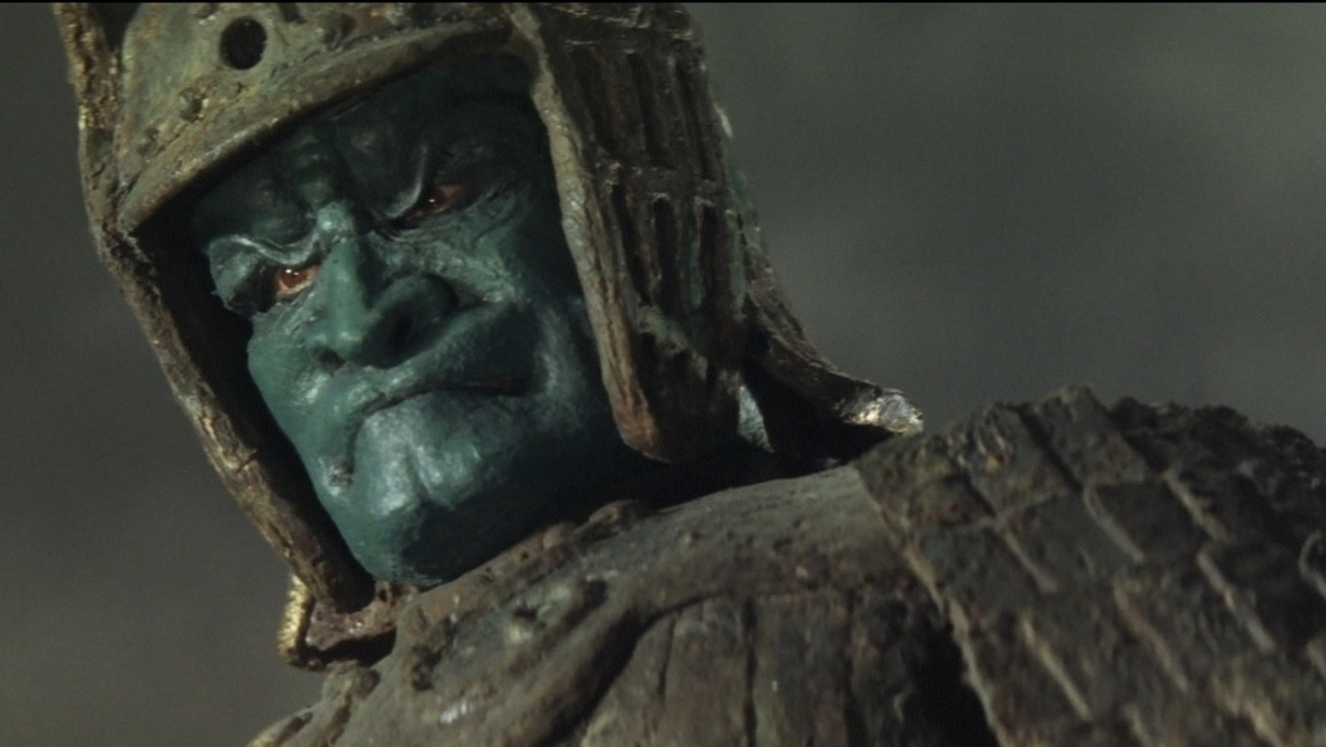 The terrifying face of Daimajin, a giant statue come to life.