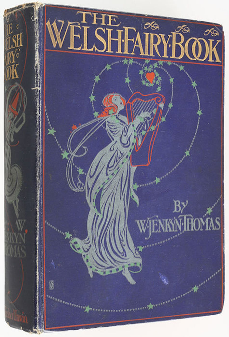 The first edition cover of The Welsh Fairy Book by W. Jenkyn Thomas