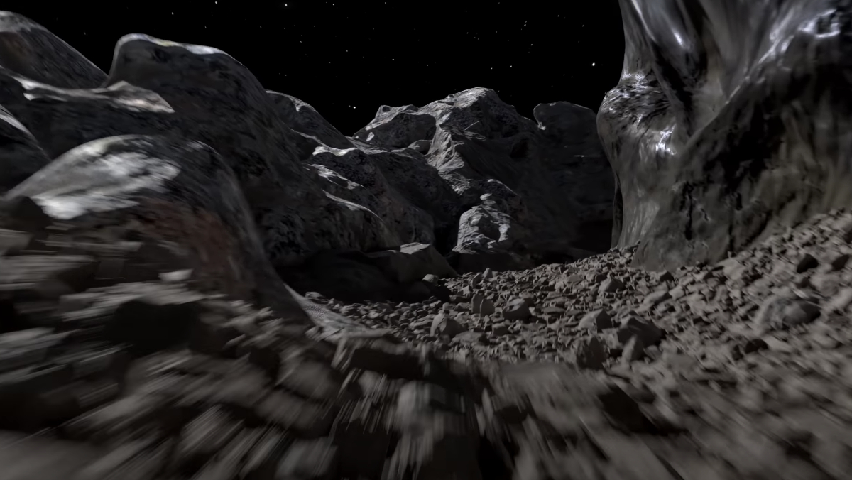 A first-person look at the surface of Psyche, a $700 quintillion asteroid.