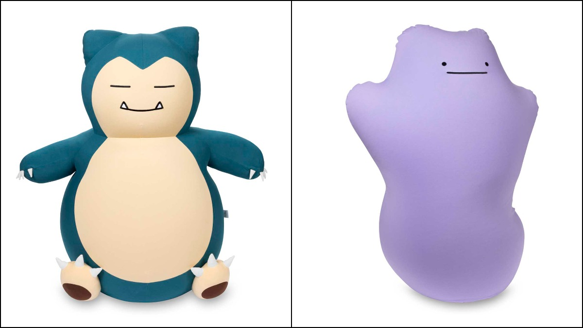 Snorlax and Ditto bean bag chairs from Yogiobo