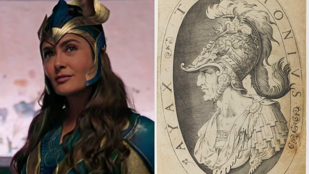 The Eternals' Ajak who is based on Ajax and an image of the warrior