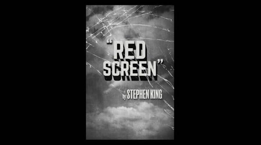 The digital cover for Stephen King's Humble Bundle story Red Screen
