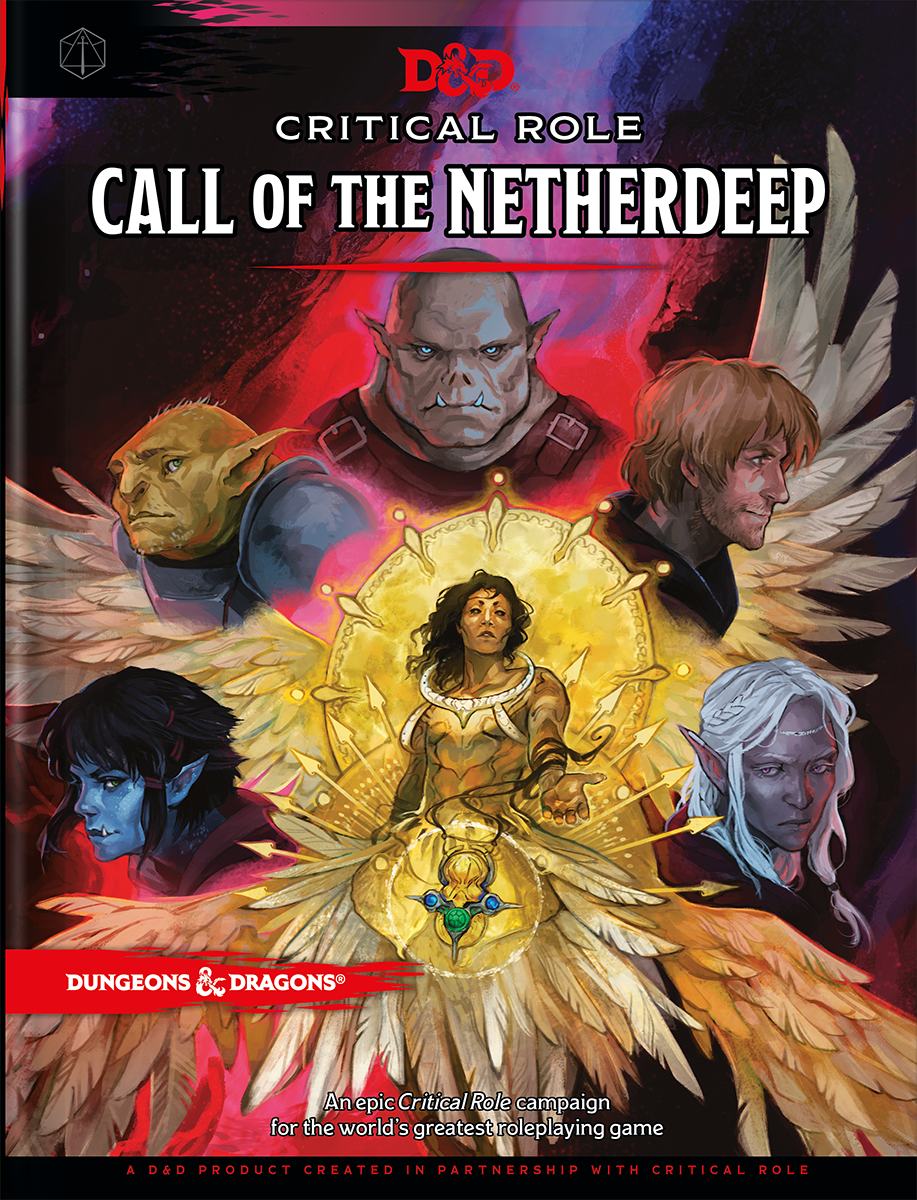 Cover art for Critical Role: Call of the Netherdeep, a Critical Role D&D Campaign, featuring many fantasy characters